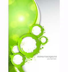 Abactract green background vector image vector image