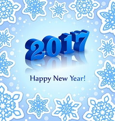 Blue New Year 2017 on Blue background vector image vector image