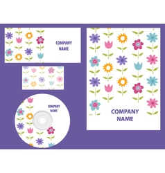 Business identity template vector image