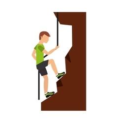climbing mountain isolated icon design vector image vector image
