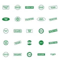 Healthy food labels vector image