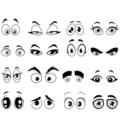 outlined cartoon eyes vector image