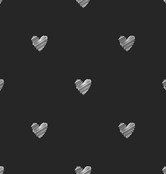 Seamless chalk pattern of hearts vector image
