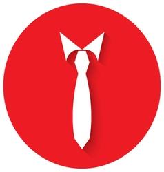 Tie men in flat design vector image vector image