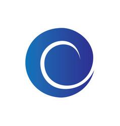 abstract circle wave logo vector image vector image