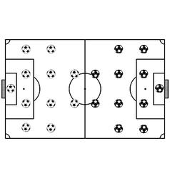Soccer Stadium Field Black vector image