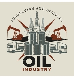 Vintage Extraction Oil Template vector image