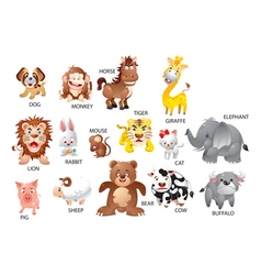animals1 vector image vector image