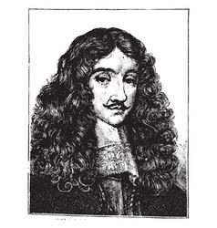 charles ii of england vintage vector image vector image