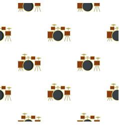 Drum setting pattern seamless vector