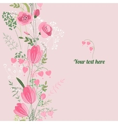 Floral spring template vector image vector image