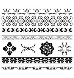 set - black borders for decoration vector image