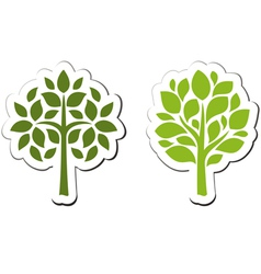 tree emblem 2 isolated on white vector image vector image