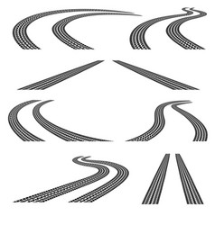 set of road vector image