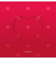 3D heart background vector
