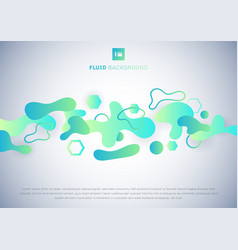 abstract fluid green and blue gradient on white vector image
