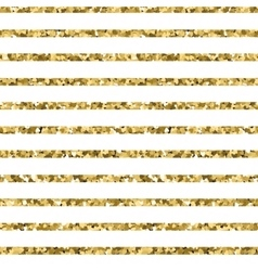 Abstract gold glitter striped background sparkles vector image