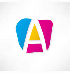 abstract icon based on the letter a vector image