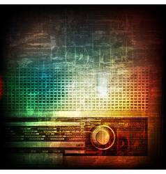 Abstract music grunge vintage background with vector