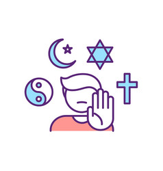 Ahteist rgb color icon vector