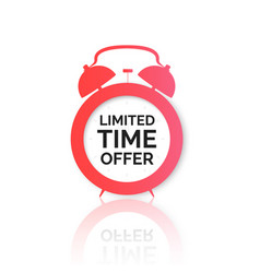 Alarm clock with special offer on dial limited vector