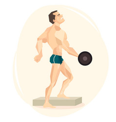 an athlete weightlifter vector image
