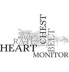 Belt chest heart monitor rate text word cloud vector