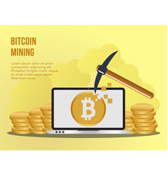 bitcoin mining concept design template vector image