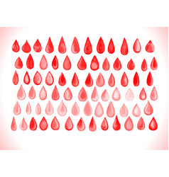 Blood drop set vector