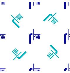 Blue basketball backboard icon isolated seamless vector