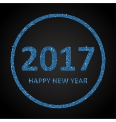 Blue Ssequins New 2017 Year Star Circle vector