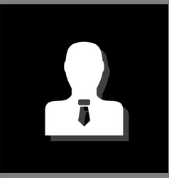 businessman icon flat vector image