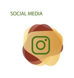 Camera icon social media instagram icon vector