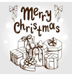 Christmas card concept vector image