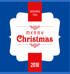 Christmas card with dark blue background vector