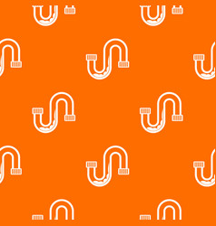 Clog in the pipe pattern seamless vector