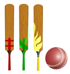 Cricket bats and ball vector