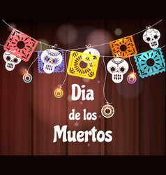 day dead invitation decor vector image