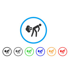 Fart gases rounded icon vector