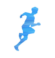 fast runner silhouette isolated on white vector image