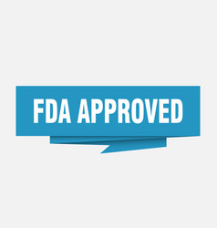 fda approved vector image