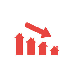 flat design style concept of house sales or vector image