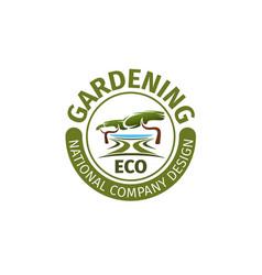 Gardening landscape design company icon vector