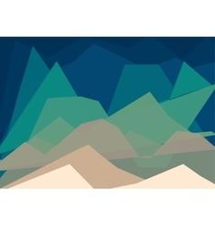 Geometric landscape vector image
