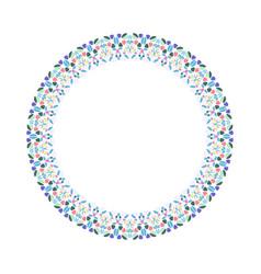 Geometrical mosaic border - abstract circular vector