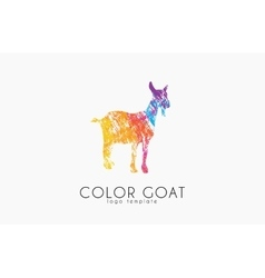 Goat logo color creative logo vector