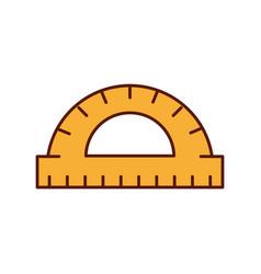 graphic design protractor angle measure tool vector image