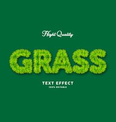 grass text effect editable text vector image