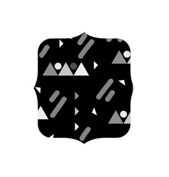 Grayscale quadrate with graphic style design vector