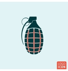 Grenade icon isolated vector